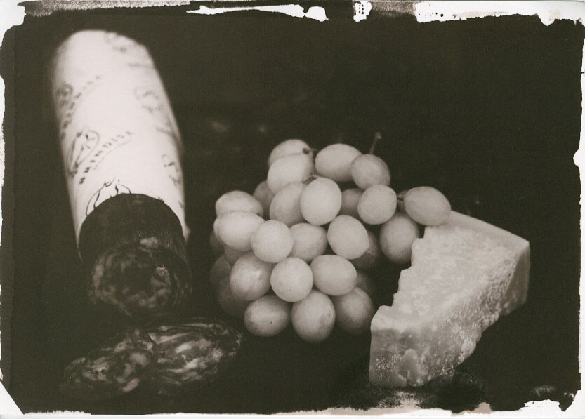 Still Life with Grapes salt print